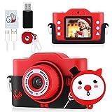 blackpoolal Fotocamera per Bambini Videocamera per Giocattoli Regalo Ragazzi Ragazze da 3 a 12 Anni Mini Ricaricabile Selfie con Scheda SD 32 GB TF Card HD 1080P