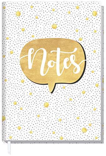 Notizbuch A5 liniert [Gold] von Trendstuff by Häfft   als Tagebuch, Bullet Journal, Ideenbuch, Schreibheft   stylish, robust, biegsam, abwischbares Cover