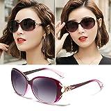 Nuevas gafas de sol Femeninas Formas redondas Tinta Marea Moda UV Glasses La cara polarizada es delgada