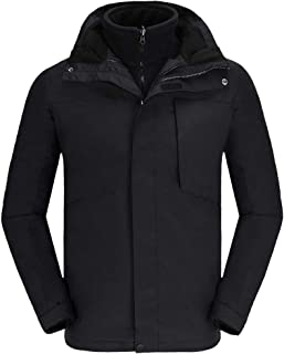 svacuam Womens Waterproof Windproof Snow Ski Hooded Jacket Winter Fleece Parka Rain Coats for Hiking
