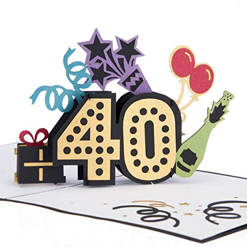 Cardology - Tarjeta de felicitación para 40 cumpleaños con texto en inglés40th Birthday