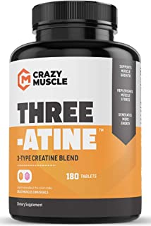 Creatine Pills (2 Month Supply) 5,000mg Per Serving - 180 Creatine Tablets (Better Than creatine Capsules) - Muscle Gain Supplement with 5g of Creatine Monohydrate, Pyruvate + AKG - Optimum Strength