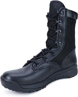 QUNLON Botas Transpirables Antideslizantes Resistentes al Desgaste tácticas Militares para Hombres Zapatos de Trabajo Lige...