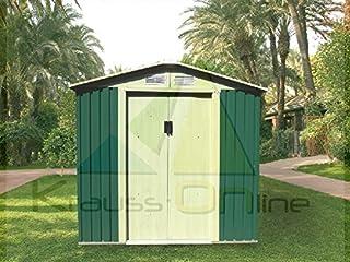 Caseta Cobertizo de Metal verde para Jardin Tools