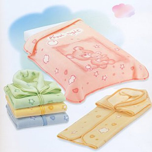 Couverture Pressionnee Bebe -Baby Sac Prodige 629 - Theme Oursons Good Night ROSE