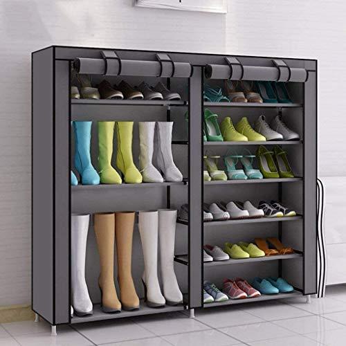 QZMX Estante de Zapatos Zapatero Simple Familia Zapatos prácticos de Zapatos Zapatero Vertical Rack de Almacenamiento Organizador 7 Capas 36 Pares de Zapatos de la Familia Simple práctico Estante