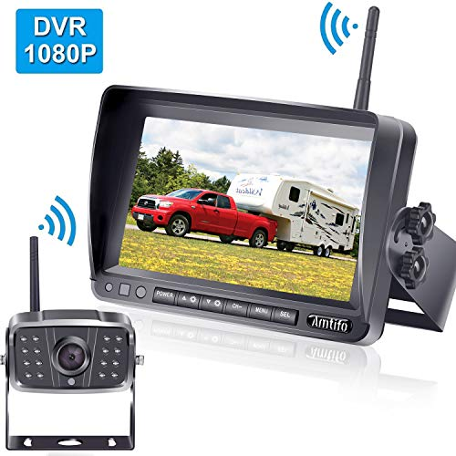 AMTIFO FHD 1080P Digital Wireless Backup Camera,Hitch Camera with 7