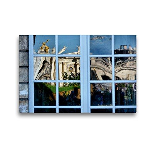 CALVENDO Premium Textil-Leinwand 45 x 30 cm Quer-Format Fenster von City Hall, Leinwanddruck von Thomas Bartruff