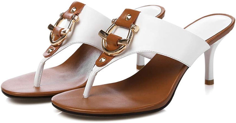 AYHNL Flip-Flops Frauen Hausschuhe Slip On On On Beach Flip Flops High Heels Sandalen 14c