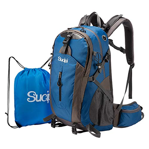 Sucipi Lightweight Hiking Backpack 40L Small Camping Travel Hydration Backpack