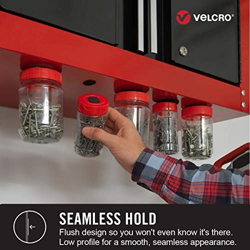 VELCRO Brand Industrial Fasteners Low Profile Thin Design | Professional Grade Heavy Duty Strength Holds up to 10 lbs on Smooth Surfaces | Indoor Outdoor Use, 10ft x 1in, Tape Photo #8
