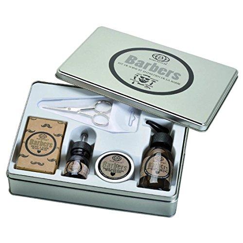 Preisvergleich Produktbild 5 teiliges Deluxe Bartpflege Set: Bartshampoo,  Bartbalsam,  Bartöl,  Bartbürste,  Bartschere - Barbers by Baruffaldi