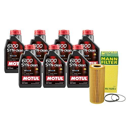 Newparts 7L Motul 6100 SYN-Clean 5W-40 Mann Filter Motor Oil Change Kit SQ5 3.0L Super for Audi SQ5 3.0L V6 Supercharged FI CTUD 2014-2017 CTUD, CGQB; VW 502.00/505.01