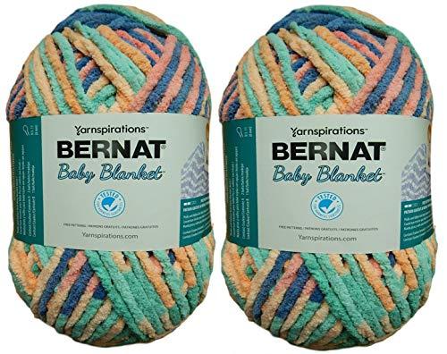 Bernat Bulk Buy Baby Blanket Big Ball Yarn (2-Pack) Mini Succulents