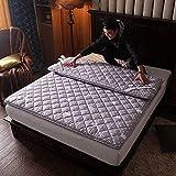 mattress WANGTX Colchón de futón, colchón Plegable portátil, colchón Doble Individual, Adecuado para el hogar, Dormitorio de Estudiantes, colchón de Camping para Invitados/D / 1.5×2m