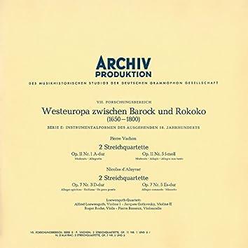 Vachon: String Quartet In A, Op.11 No.1; String Quartet In F Minor, Op.11 No.5 / Dalayrac: String Quartet In D, Op.7 No.3; String Quartet In E Flat Major, Op.1 No.5