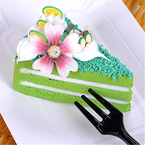 100 piezas comestibles forma de flor de mariposa decoración para hornear pasteles glutinoso papel de arroz comestible oblea pastel de papel, postre, adornos, fiesta de cumpleaños, boda, decoración