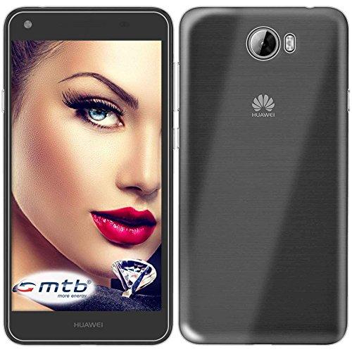 mtb more energy® Schutz-Hülle Clear und Slim für Huawei Y6 II Compact - Huawei Y5 II (5.0'') - transparent - flexibel - TPU Silikon Hülle Cover Tasche