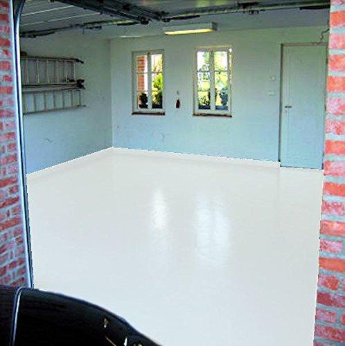 2,5 kg RAL 9010 reinweiss weiß Garagenfarbe glänzend Parkplatzfarbe Bodenfarbe Weichmacherbeständig Asphaltfarbe