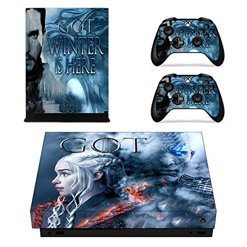 Thrones Xbox One X Skin Set Full Faceplates Skin Console & Controller Decal Stickers by okanhyeu
