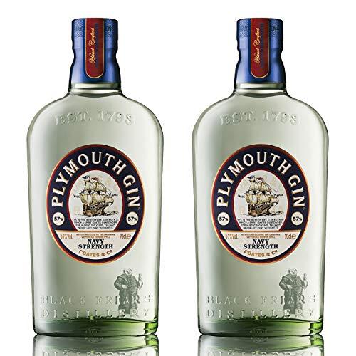 Plymouth Navy Strength Gin 2er Set, englischer Gin, Schnaps, Alkohol, Flasche, 57%, 2 x 700 ml, 70366200