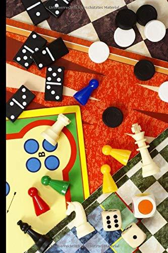 Notizbuch für Spielregeln und Spielergebnisse: Spielstände, Spielarten, Spielideen und Spieltheorien einfach dokumentieren • Spieleabend Erwachsene • Spielbuch für Familie, Kinder und Freunde