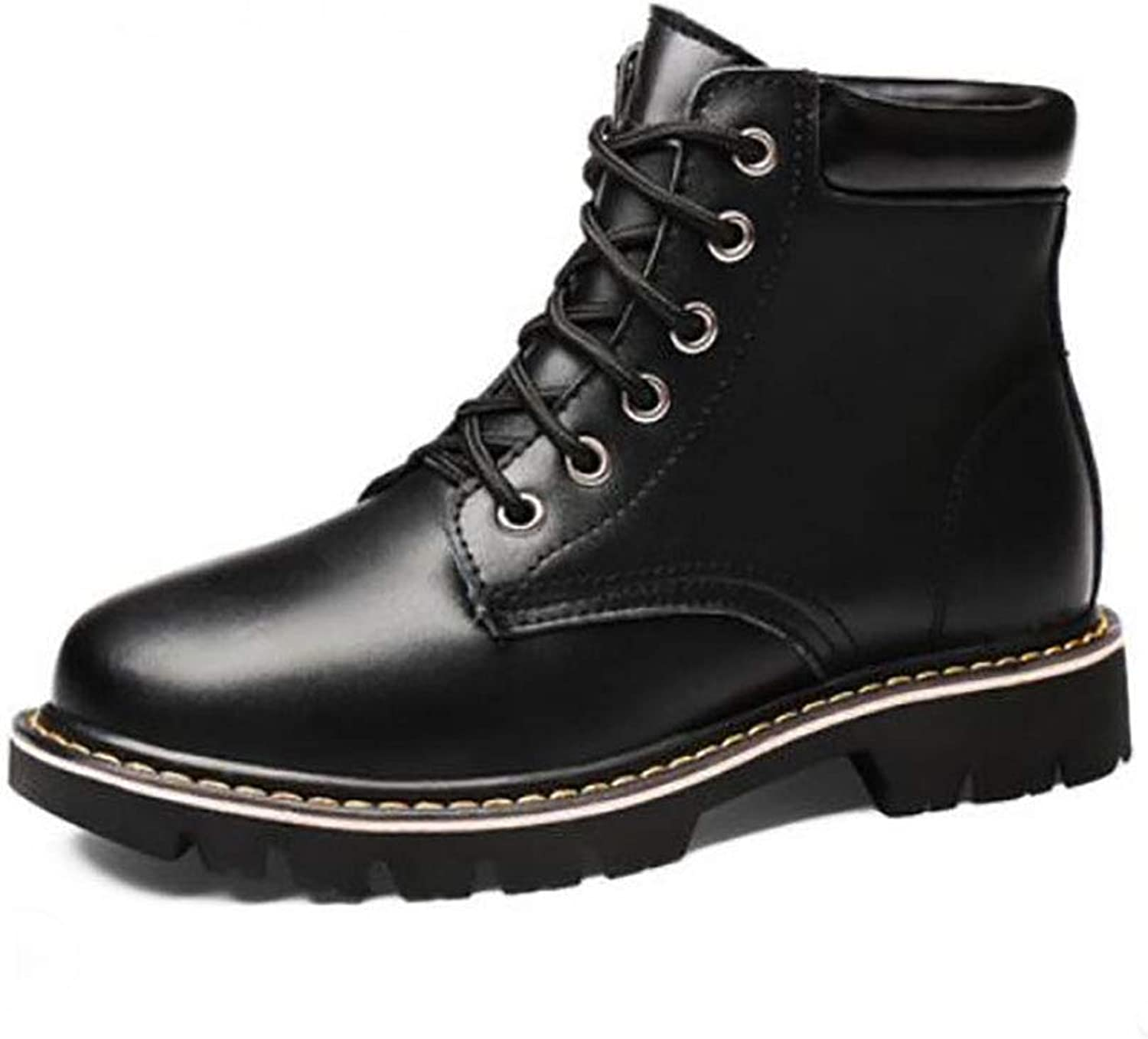 Women's shoes Winter Martin Boots Women's Booties Student Autumn and Winter Women's shoes Leather shoes Large Size Flat Women's Boots (color   B, Size   39)