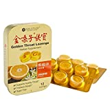 Solstice Medicine Golden Throat Lozenge - Sugar Free (Orange Flavor) - 12 Ct