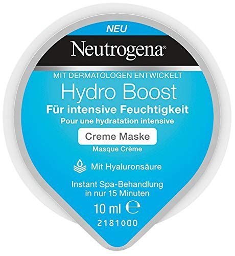 Neutrogena Hydro Boost Creme Maske - Creme Maske mit Hyaluronsäure für intensive Feuchtigkeit - 1 x 10ml