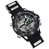 Stauer Men's Sport Hybrid Watch with Stainless Steel and Silicone Band