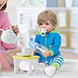 Reborn Baby Gift Set Baby Doll Cuerpo Completo Silicona Niño para niño(Golden Retriever, 12)