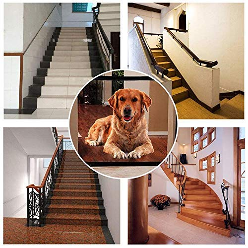 Nero JUSTIDEA Portatile Pieghevole Dog barriera Magic Gate Dog 180x72cm 4 Set
