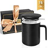 Krokori Ceramic Cup Glaze Tea Cup Coffee Mugs Cup with Lid and Infuser for Home, Kitchen, Office and...
