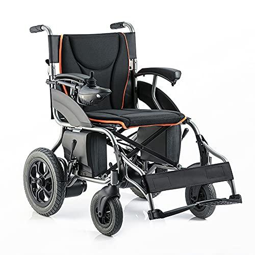 wheelchair Silla de Ruedas eléctrica Ligera Silla de Ruedas Plegable portátil Scooter para Ancianos Silla de Ruedas Inteligente Totalmente automática Adecuado para Personas Mayores/discapacitadas