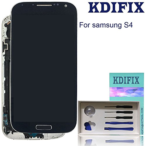 KDIFIX for Samsung Galaxy S4 (SIV) SGH-I337 SGH-M919 LCD Touch Screen Assembly+ Frame with Full Professional Repair Tools kit (Black)