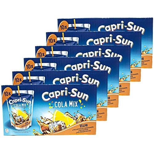 Capri-Sun - 6er Pack Capri Sonne Cola Mix - Caprisonne Vorteilspack (10 x 0.2 Liter) perfekt für Unterwegs 100 {75455c5bfb841700ca238cf6c27753042384ac3b46383746b6f858b540c139a5} Erfrischung dank Cola und Zitrone
