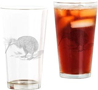 CafePress Vintage Kiwi Bird New Zealand Birds Pint Glass, 16 oz. Drinking Glass
