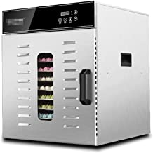 Máquina de conservación de alimentos para el hogar Secador de alimentos, pantalla táctil inteligente Multifunción Vegetal Deshidratador de frutas 10 bandejas de acero inoxidable Energy Efficient 1000W