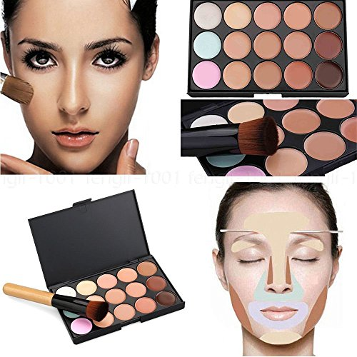Boolavard 15 color corrector paleta Kit cepillo gratis maquillaje contorno crema para la cara