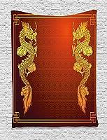 Bigleaderドラゴンのタペストリー、中国の伝統的な生き物デザインの歴史的東部モチーフ創造的な家の装飾壁掛けタペストリー150x100cm