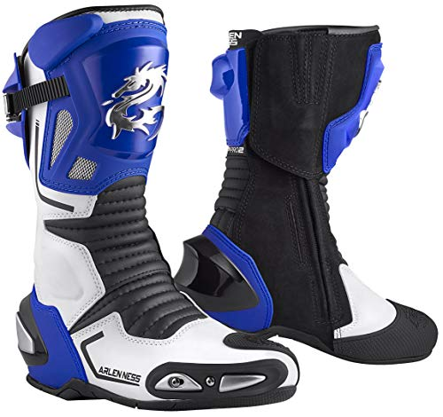 Arlen Ness Sugello Stivali da moto Blu/Bianco/Nero 39