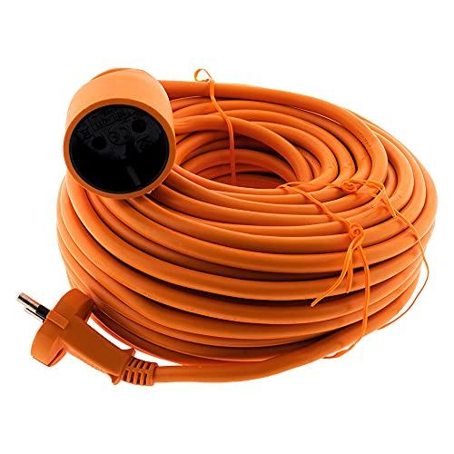 Prolongateur 16A HO5VV-F 2x 1,5 2P sans terre Orange 25m - Zenitech
