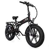 ENGWE EP-2 Versión Mejorada 500W Bicicleta eléctrica de neumático Gordo Plegable con batería de Iones de Litio de 48V 12.5Ah