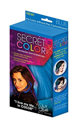 Secret Color Hair Extensions, Blue
