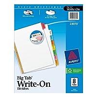 Avery Bigタブwrite-onディバイダー、8-tabs、10セット( 23079)