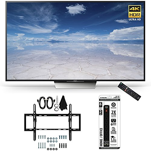 Beach Camera Sony XBR-55X850D 55-Inch Class 4K HDR Ultra HD TV Flat + Tilt Wall Mount Bundle Includes TV, Ultimate Mount Kit and Power Strip with USB Ports