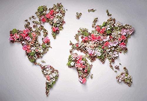 AMTTGOYY Adult Classic Puzzle 1000 Stück DIY Dior Garden Weltkarte Holzpuzzle Festival Geschenk Wanddekoration Wandbild Home Art