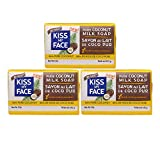 Kiss My Face Pure Coconut Milk Soap Bar With Coconut Oil 5 Oz (3 Pack)