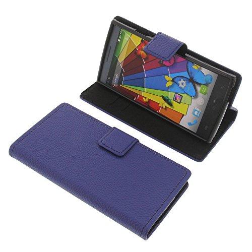 Tasche für Mobistel Cynus T8 Book Style Schutz Hülle Buch blau