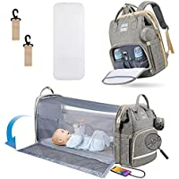 Heatoo 3-in-1 Diaper Backpack with Stroller Straps and Large Capacity